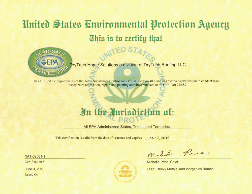 DryTech License, Maryland